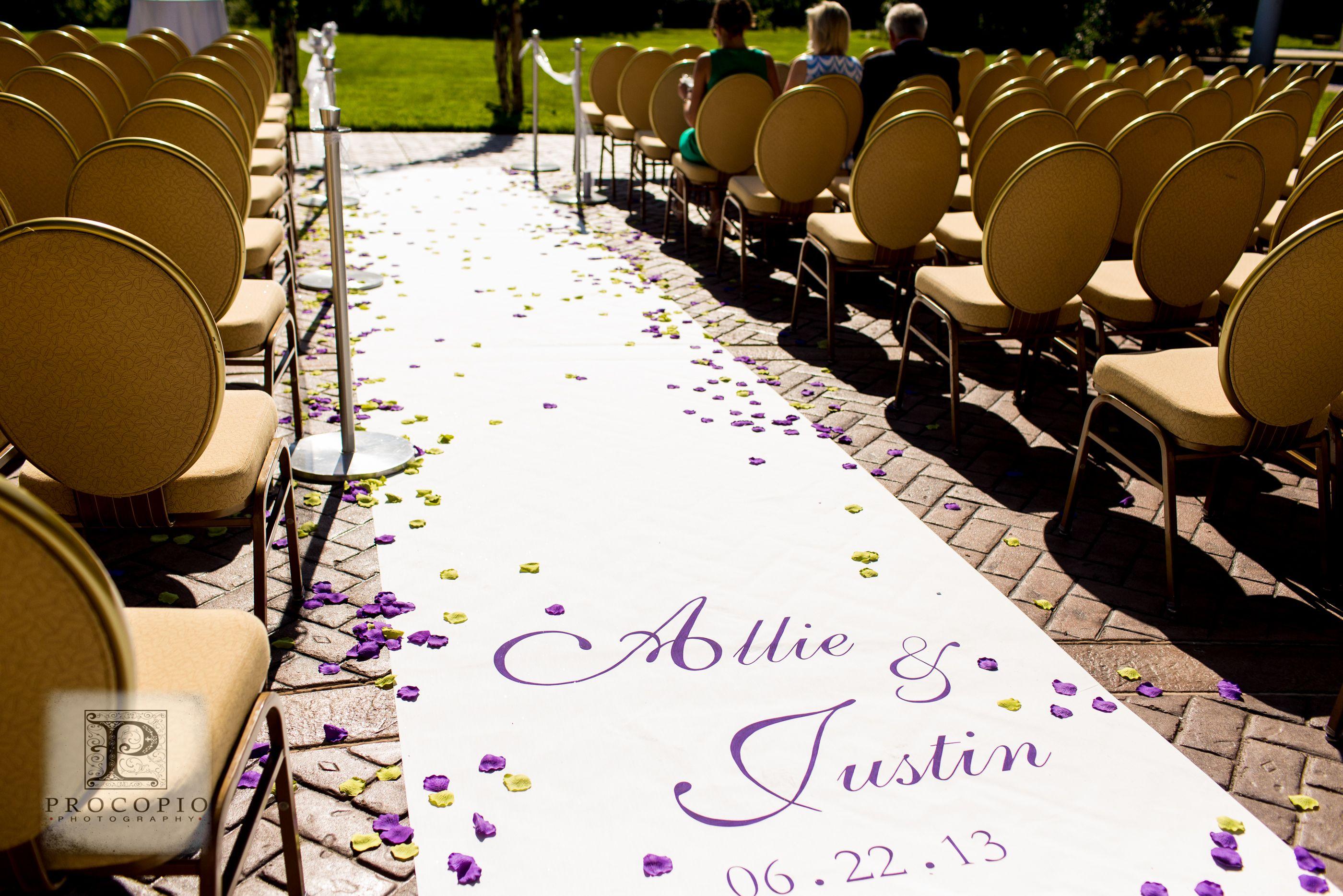 Custom Fabric Wedding Aisle Runner, heavy fabric aisle runner ...