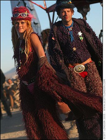 Burning Man 2005 - Couple at the Angel - Photo by Scott London