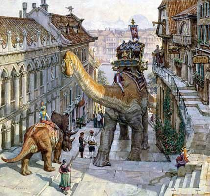 Illustrated Fantasy Series About a World Shared by Dinosaurs and Humans