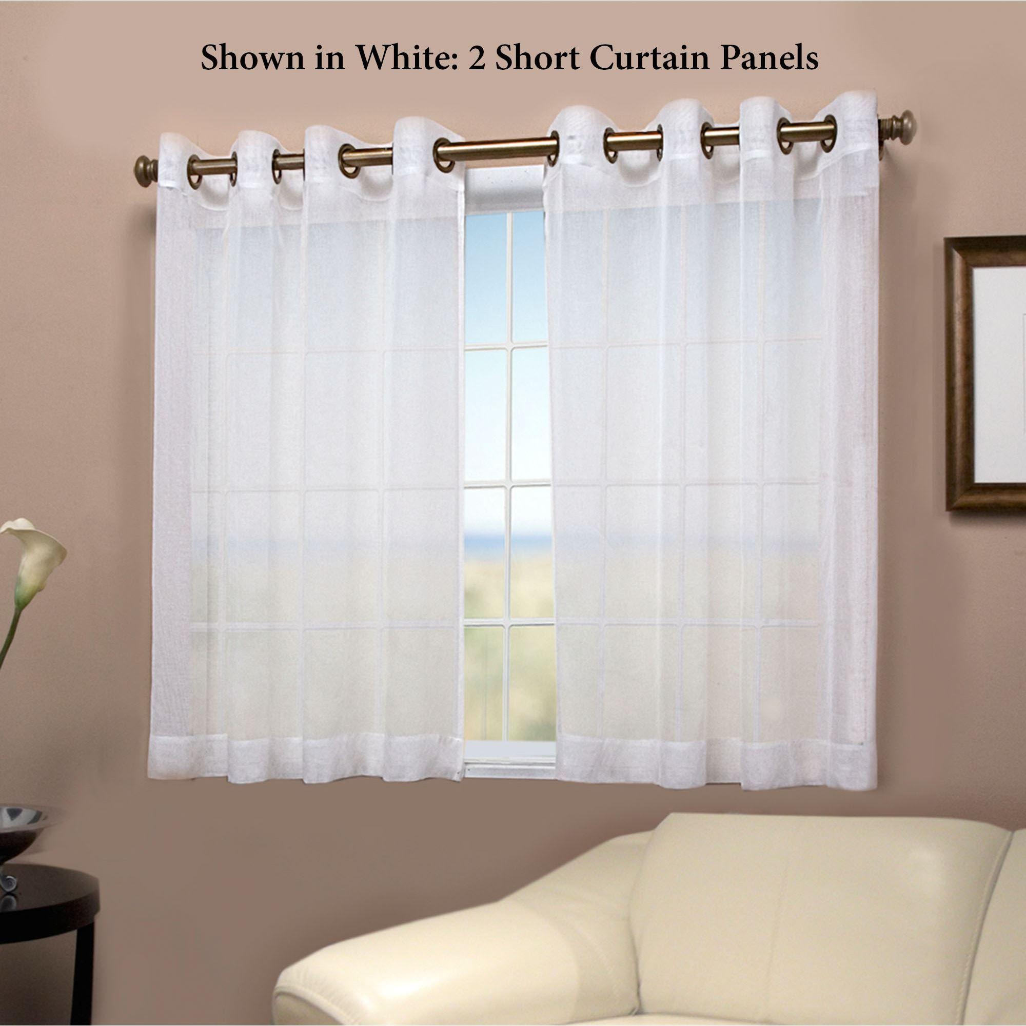 Semi Sheer Short Grommet Curtain Panel
