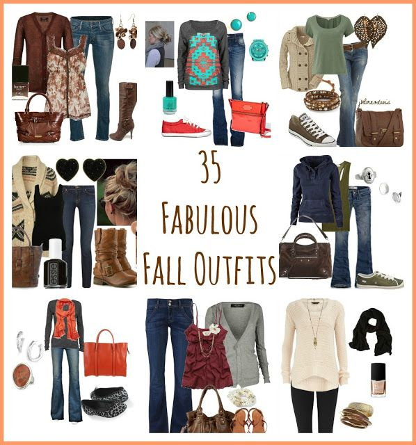 35 Fabulous Fall #Outfits -- Getting my wardrobe ready for the season change. I LOVE Fall!