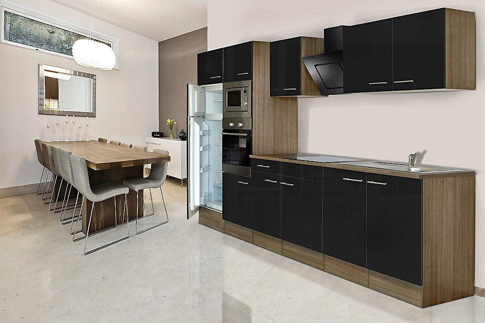 Respekta Küchenzeile mit E-Geräten »York«, Breite 330 cm Jetzt