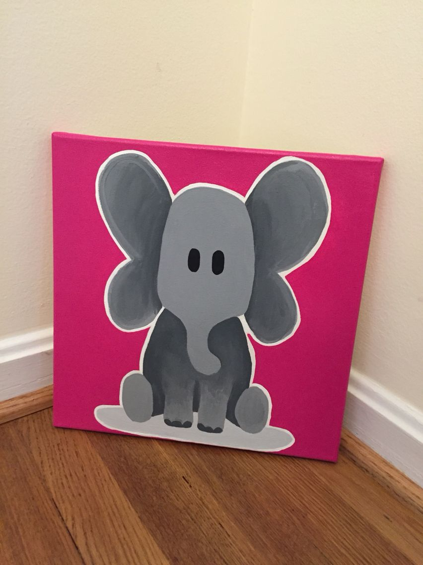 Elephant Canvas Painting