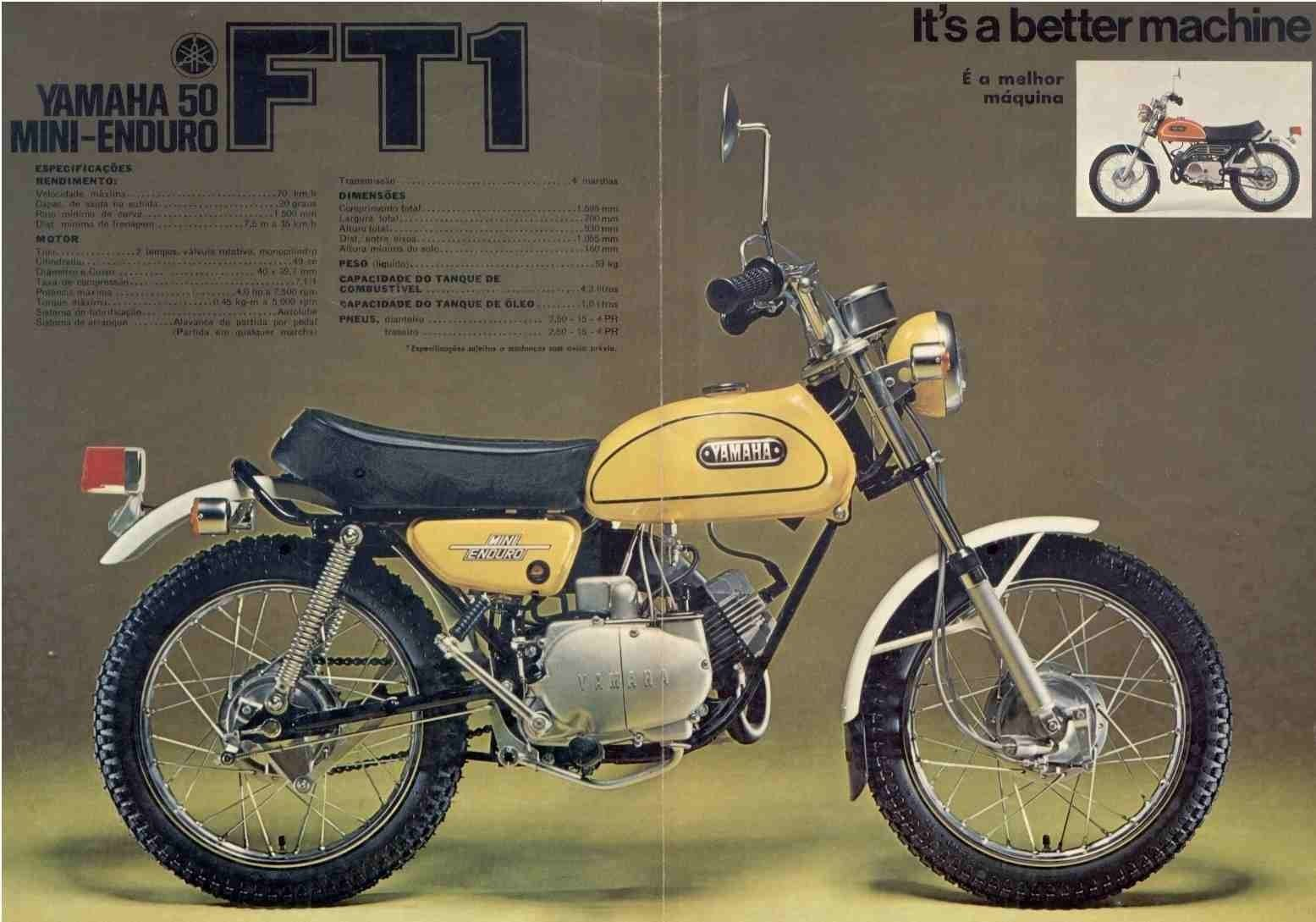 1972 yamaha ft1 50 mini enduro ad vintage dirt for Yamaha mini dirt bikes