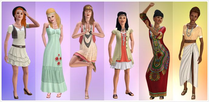Boho Vintage Women's Collection - Store - The Sims™ 3 | The