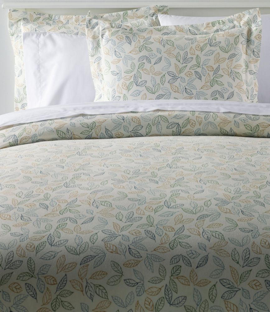Tossed Leaves Flannel Comforter Cover Collection Comforter Cover