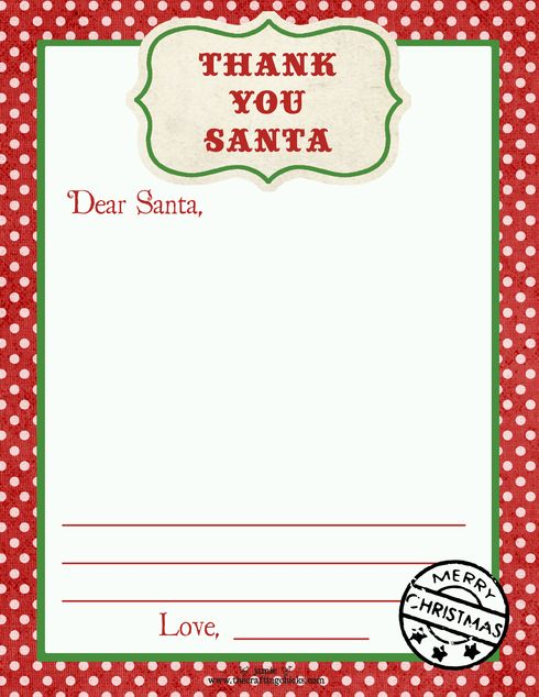 Thank you santa letter creative writing pinterest santa not this template but just a reminder send a thank you letter to santa building a sense of gratitude expocarfo Image collections