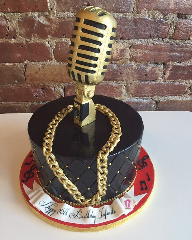 Birthday Cake In The Shape Of A Microphone