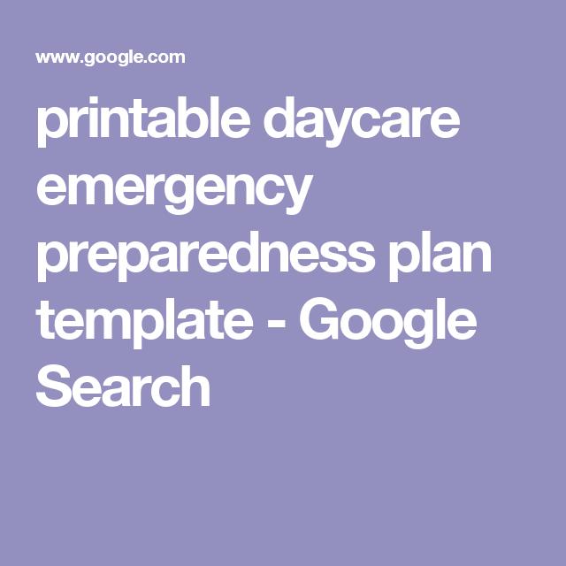 printable daycare emergency preparedness plan template google