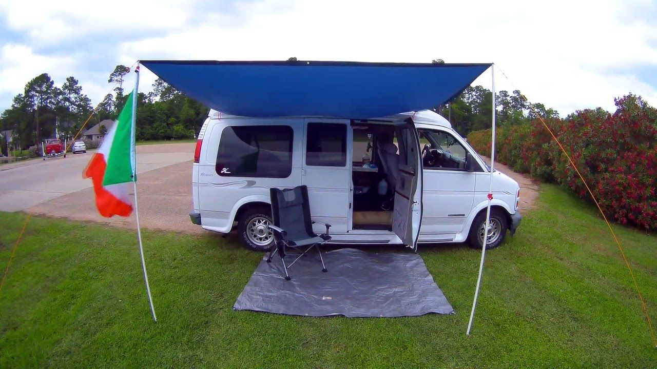 Diy van awning for under 50 check it out campervan