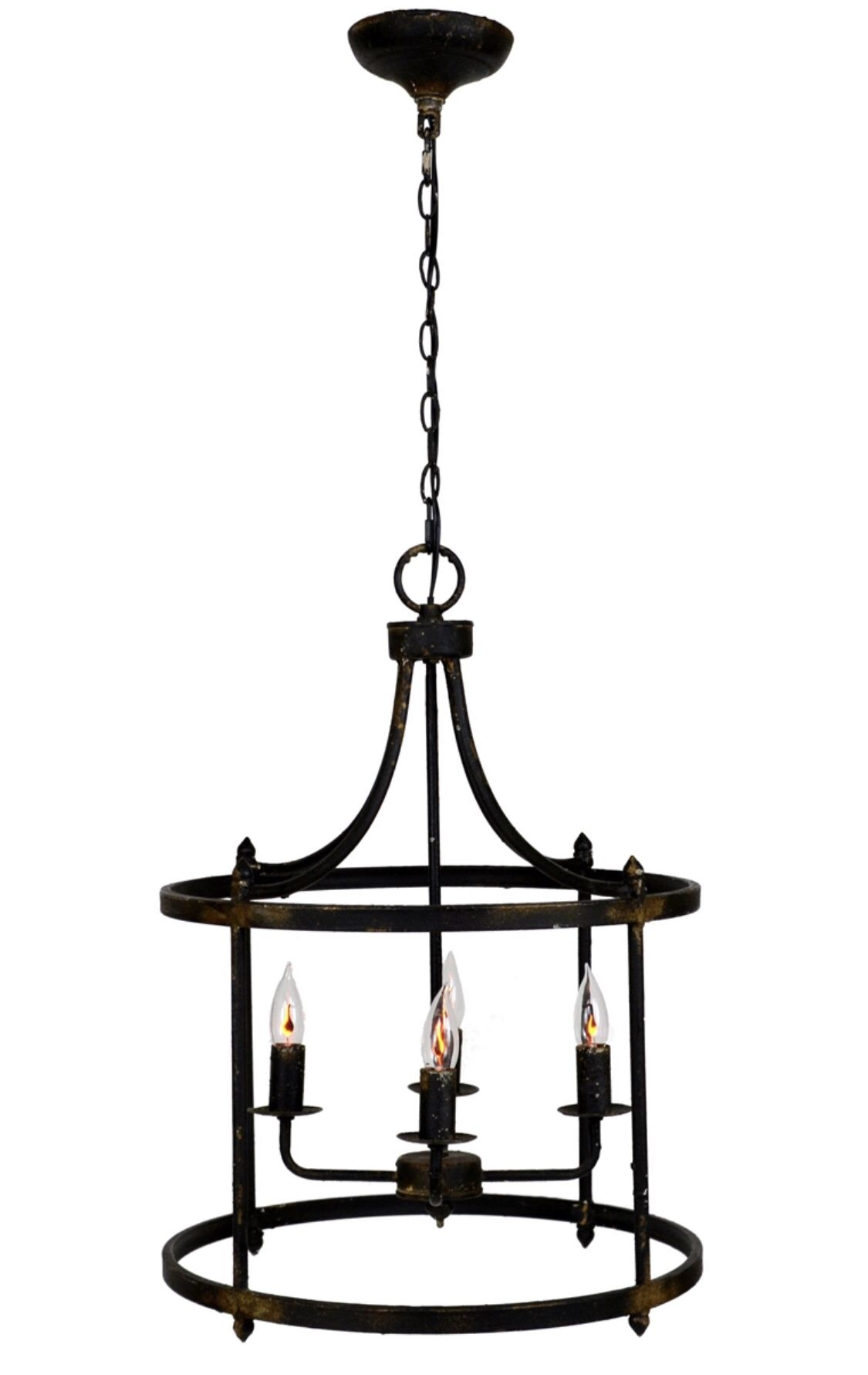 Century 4 Light Black Lantern Hanging Lights Black Pendant