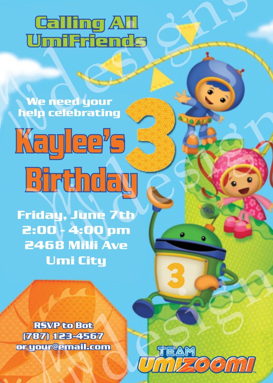 Team Umizoomi Birthday Invitation Printable By