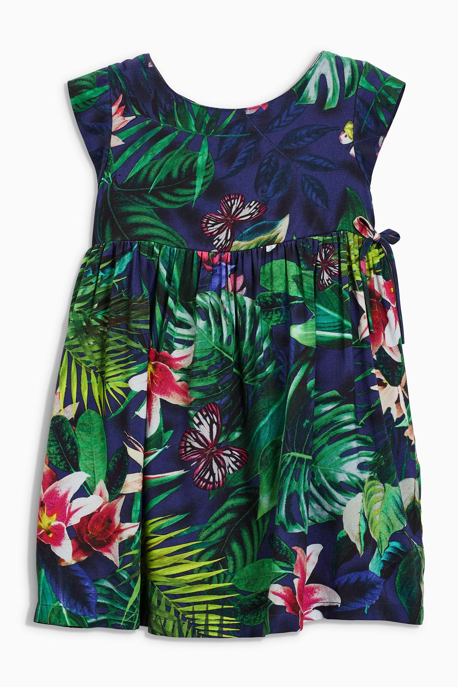 Buy Navy Tropical Print Dress (3mths-6yrs) from the Next UK online shop