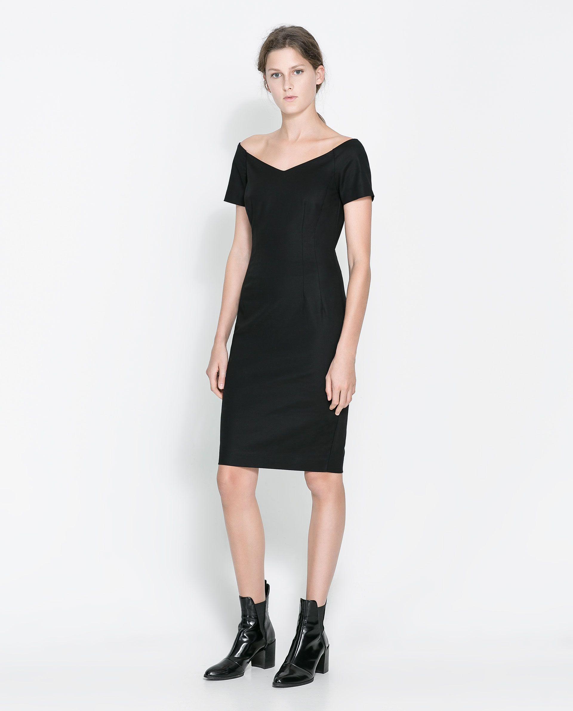 Fw Vestido Última Zara Semana Moda Escote Pico 2013 UqR0BHxw