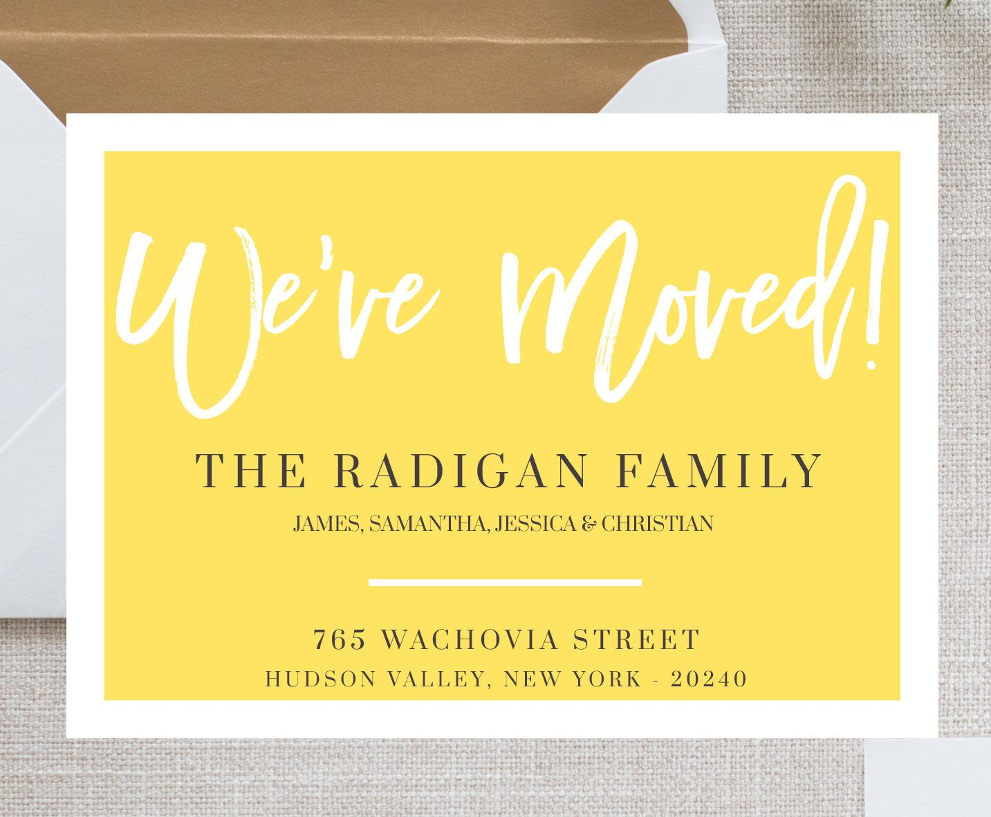 We Moved Card Template Moving Announcement Card We Ve Moved New Home Change Of Address Postcar Moving House Card New House Announcement Moving Announcements