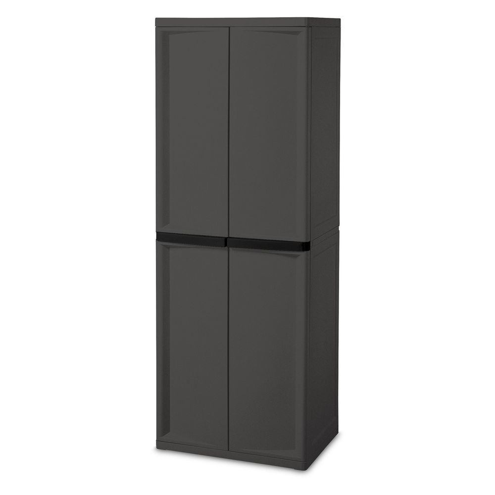 Vertical Storage Shed Outdoor Cabinet Garden Patio Utility Wall Unit