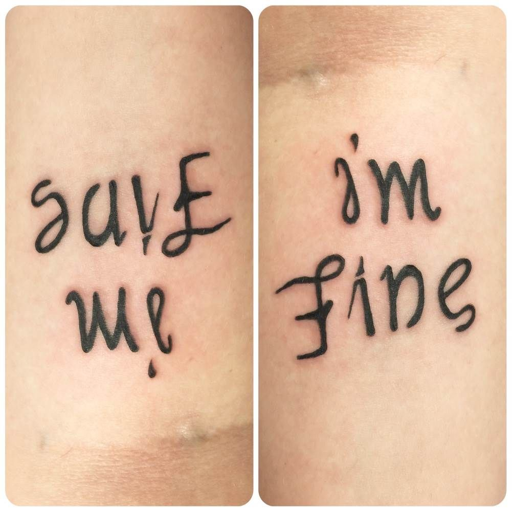 As a reminder that no one else will save me i need to suck it up ambigram tattoo save meim fine buycottarizona Gallery