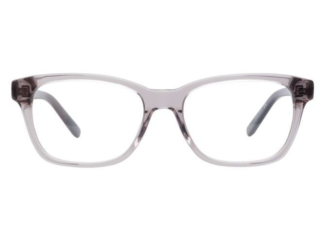 49fdc334a337 Calvin Klein CK7878 014 Grey eyeglasses are crisp and clear. This  transparent frame comes in hazy grey acetate in a demure retro-wingtip  style.