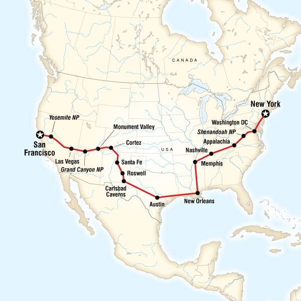 coast to coast road trip eastbound lonely planet 23 days