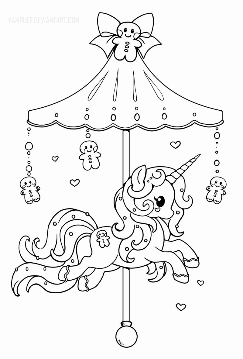 Kawaii Halloween Coloring Pages New Holiday Carousel Pony Gingerbread Pony Lineart By Yampuff Buku Mewarnai Warna Gambar