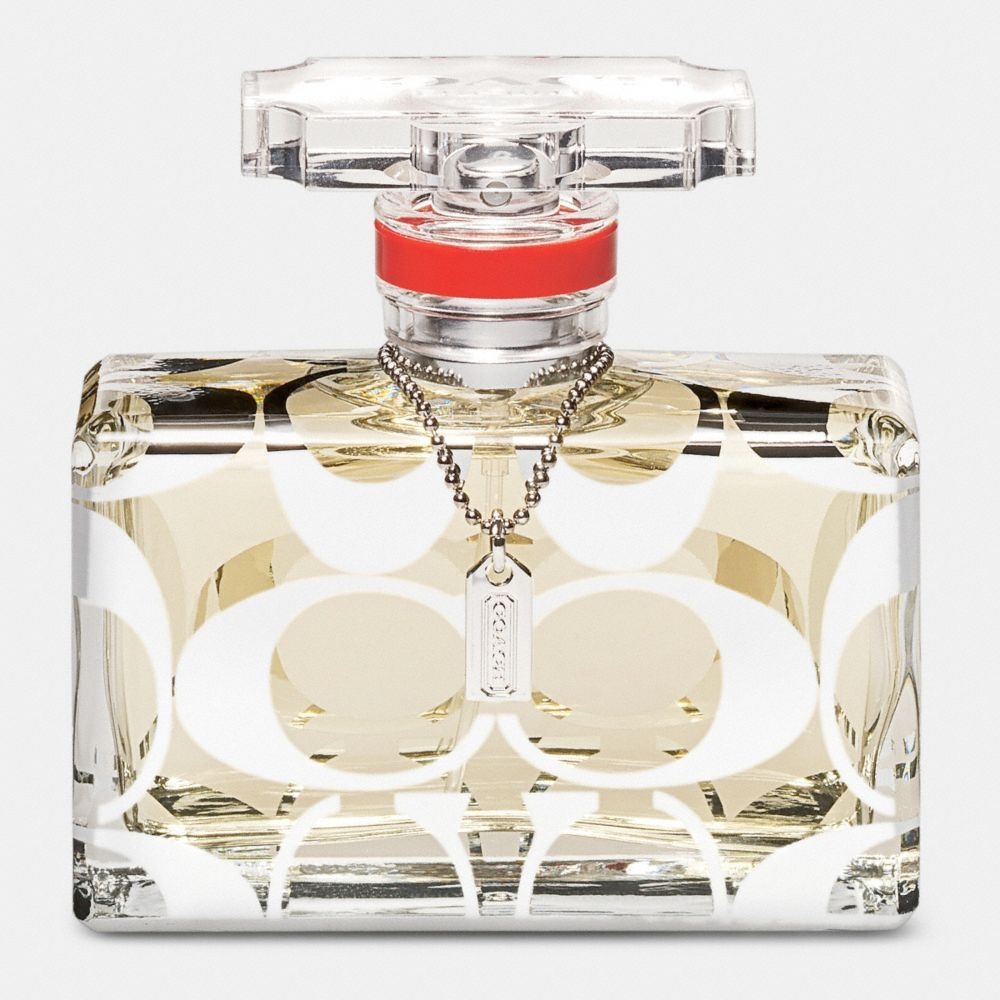 Coach Signature - blend of soft, fresh fruits and florals with a heart of fragrant yellow blossoms and warm hints of amber and cedar wood.