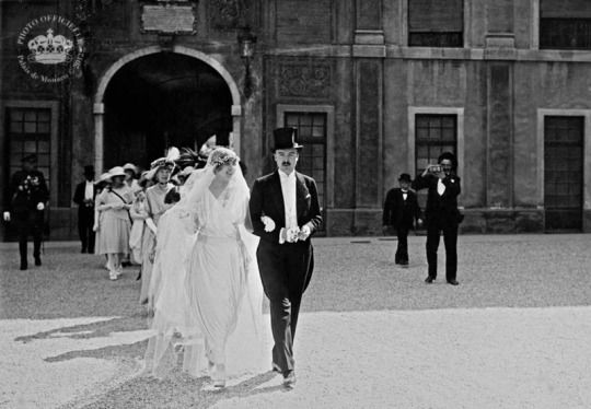 Princess Charlotte's wedding with Count Prince Pierre Monaco 1920  In accordance with the rules of succession, Prince Pierre abandons his name and adopts that of Grimaldi by marrying the daughter of Crown Prince Louis.   Archives Prince's Palace