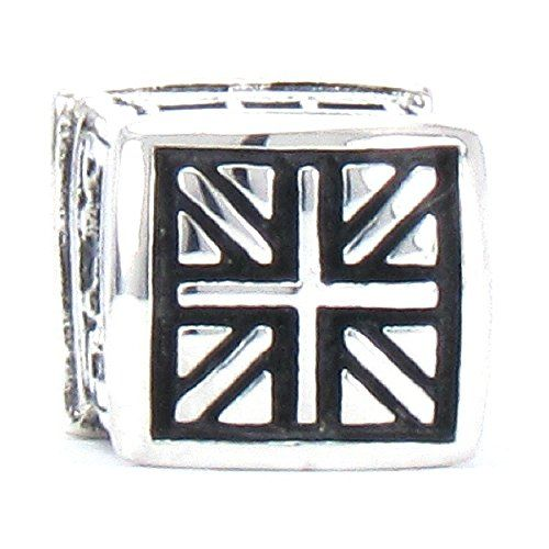 Amazon.com: BELLA FASCINI® British Flag Phone Booth Bead Charm 925 Sterling Silver Fits Pandora, Chamilia & More: Jewelry