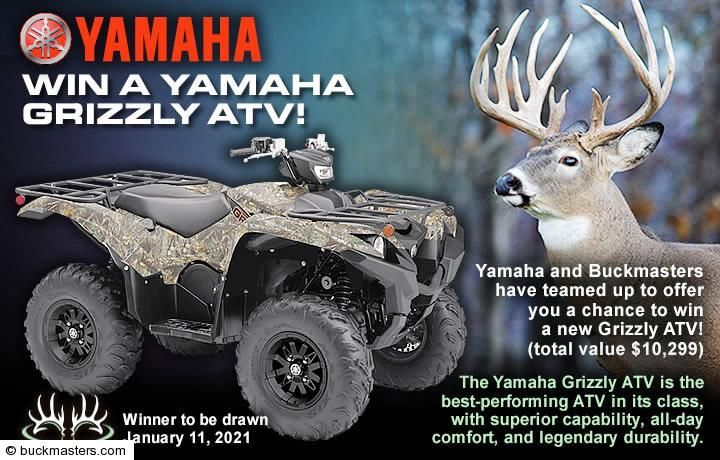 Yamaha Grizzly ATV Giveaway in 2020 Contest winning