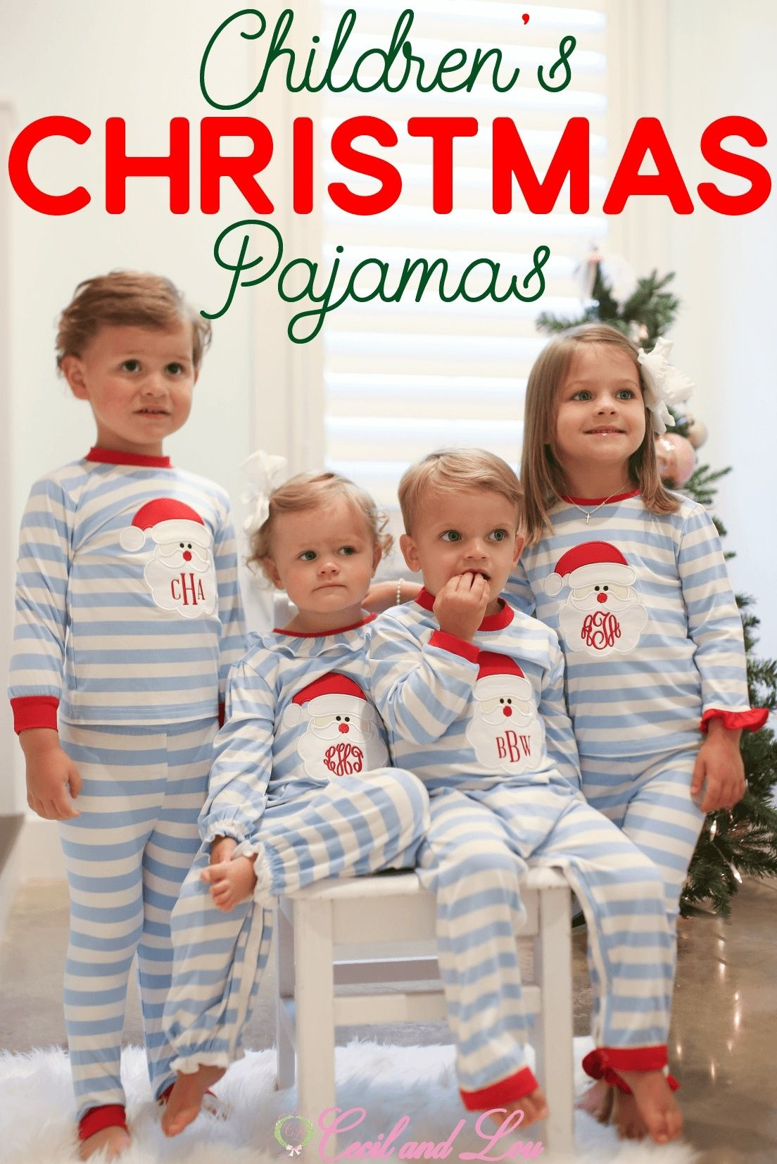 Kids Christmas Pajamas.Adorable Matching Kids Christmas Pjs At Cecil And Lou Shop