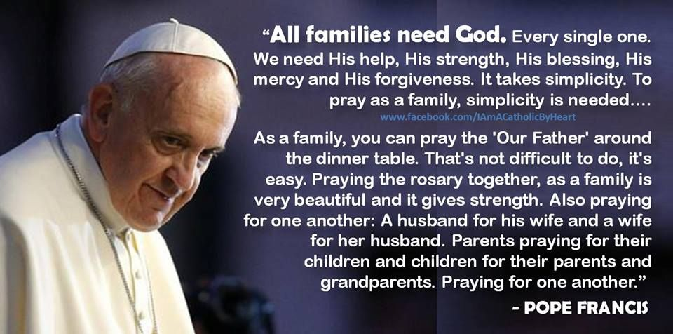 Pope Francis Quote On Families