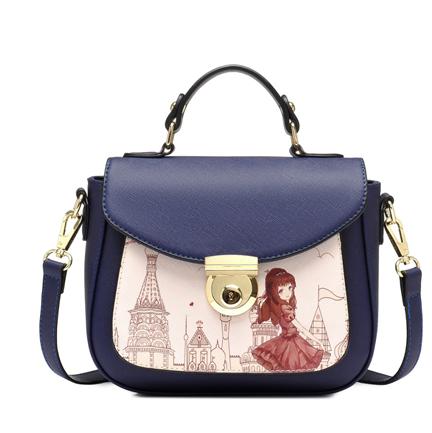 Vintage Women Printed Satchel Messenger Cross Body Mini Bag Shoulder Bag Purse