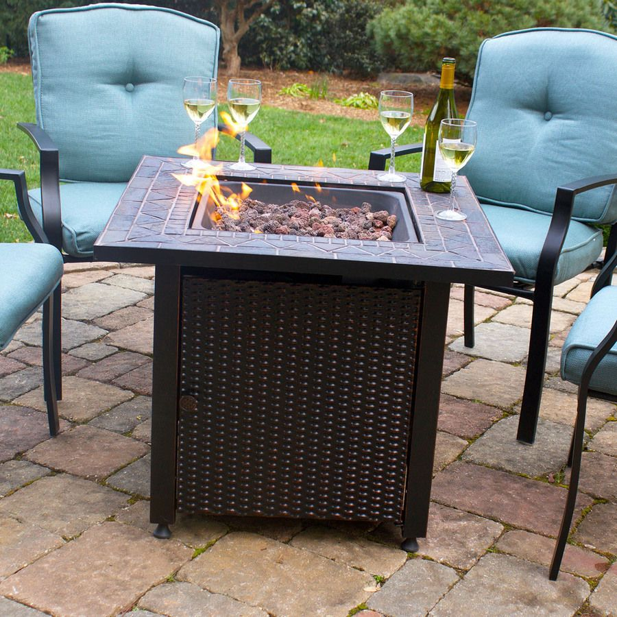endless summer w oil rubbed bronze steel liquid propane gas fire table at loweu0027s add rustic charm to any outdoor retreat with this gas fire table - Propane Fire Table