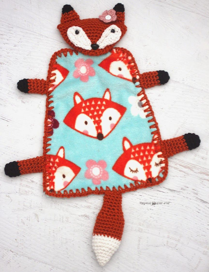 Repeat Crafter Me: Crochet Fox Lovey Blanket   BABY   Pinterest ...