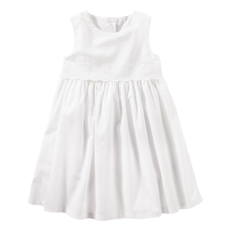 Toddler Girl Oshkosh B Gosh White Eyelet Border Dress Dresses Toddler Dress Toddler Girl [ 1500 x 1500 Pixel ]