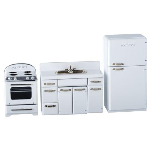 White 1950s 4-Pc. Kitchen Appliance Set