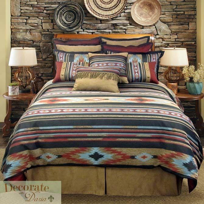 santa fe queen comforter 4 pc bed set veratex earth tones tribal ...