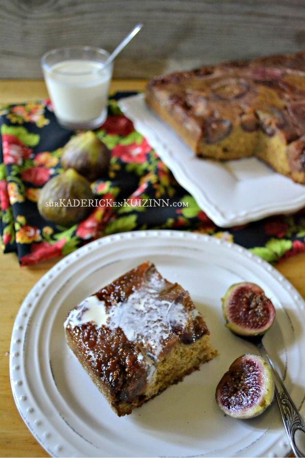 Moelleux figues - Gateau moelleux figues au rapadura et à la vanille sur kaderickenkuizinn.com