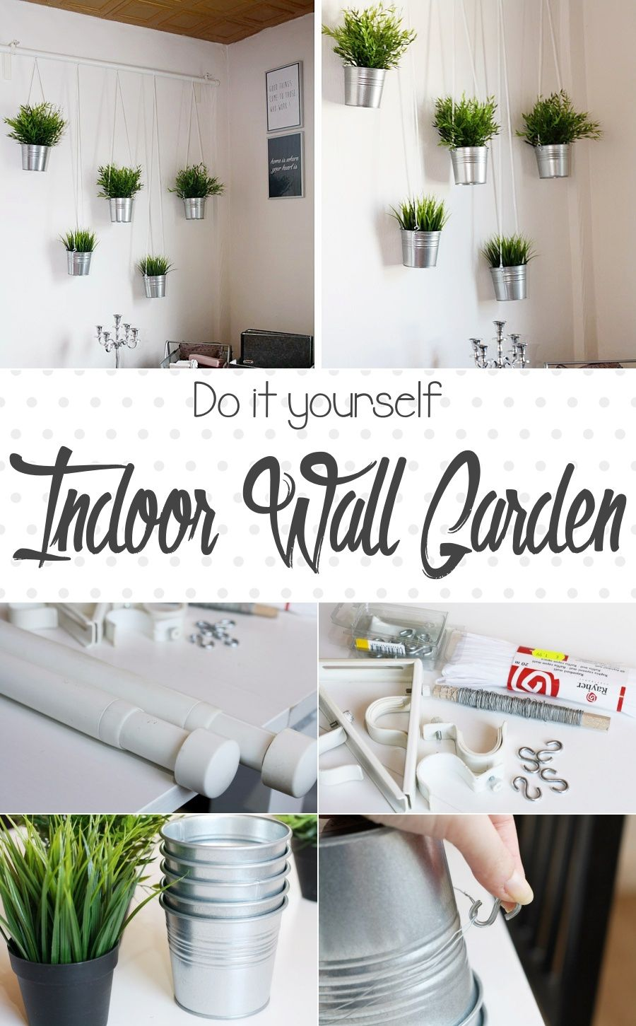 DIY: Indoor Wall Garden | Ein Kleines Do it Yourself für einen ...