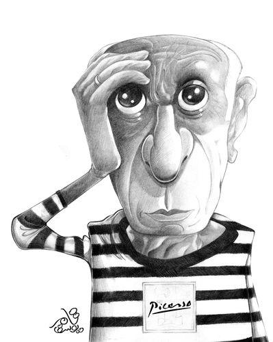 Image result for Pablo Picasso karikator