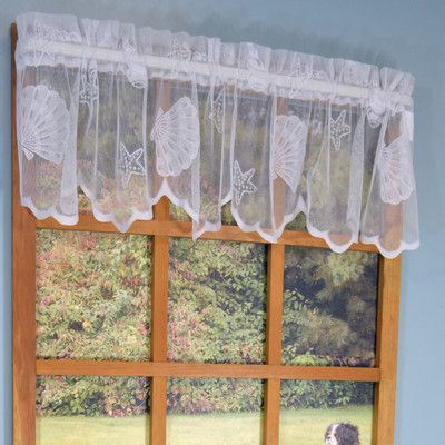 Curtain Chic Seashell Lace Scalloped Bottom 56 Valance Color
