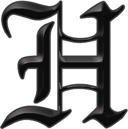 Amazing Gothic Letter H Tattoo