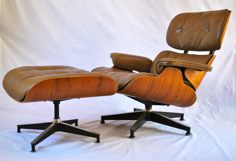 Ikonischen Lounge Sessel Original Eames Lounge Chair Und
