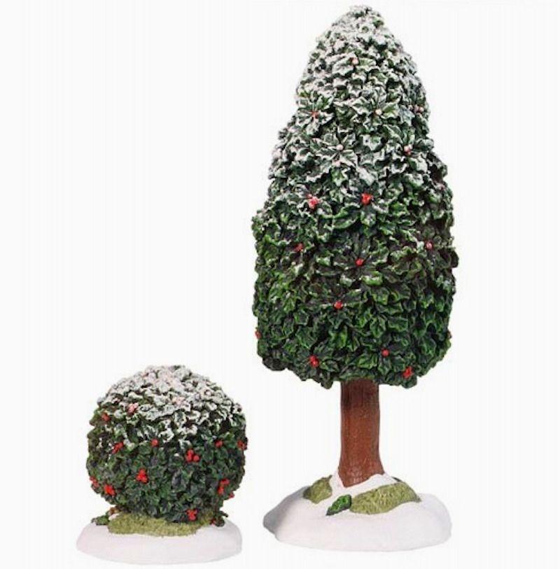Holly Tree /& Bush Dept 56 Village Accessories