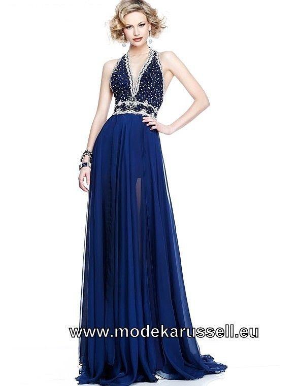 Festliches Neckholder Abendkleid in Royal Blau ...