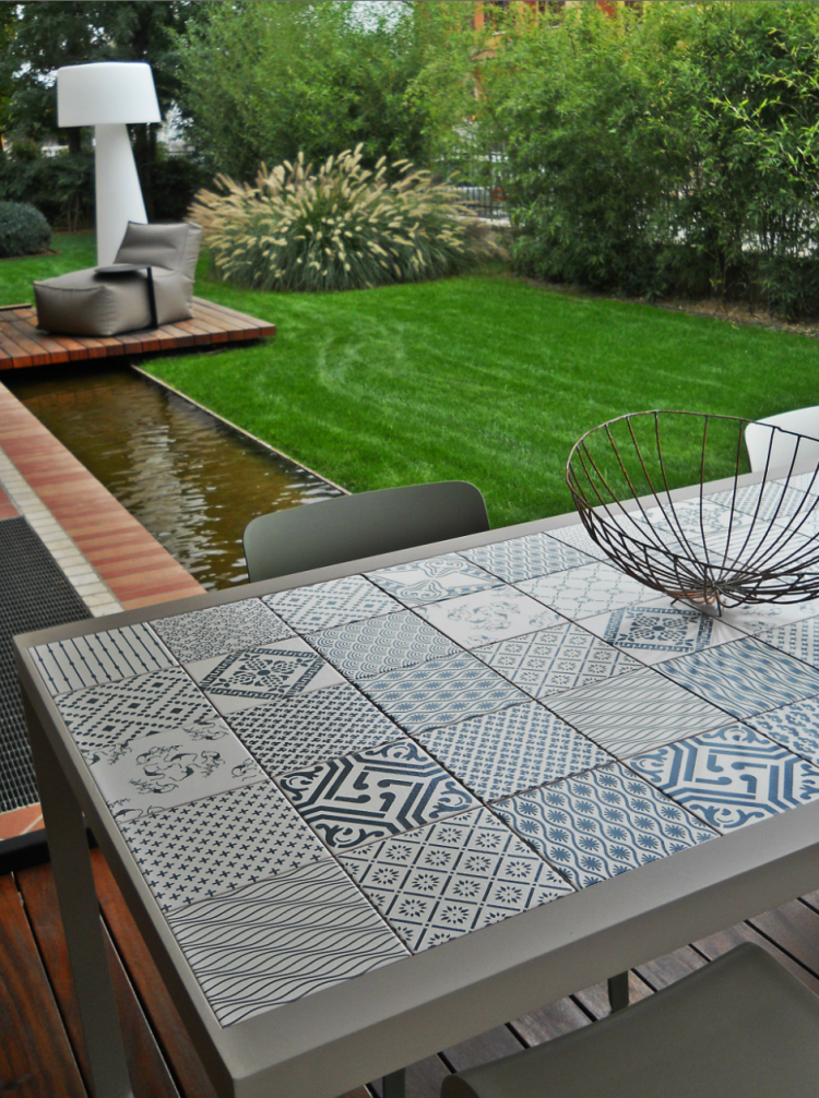 Tiled Outdoor Table Made A Mano ᔥ
