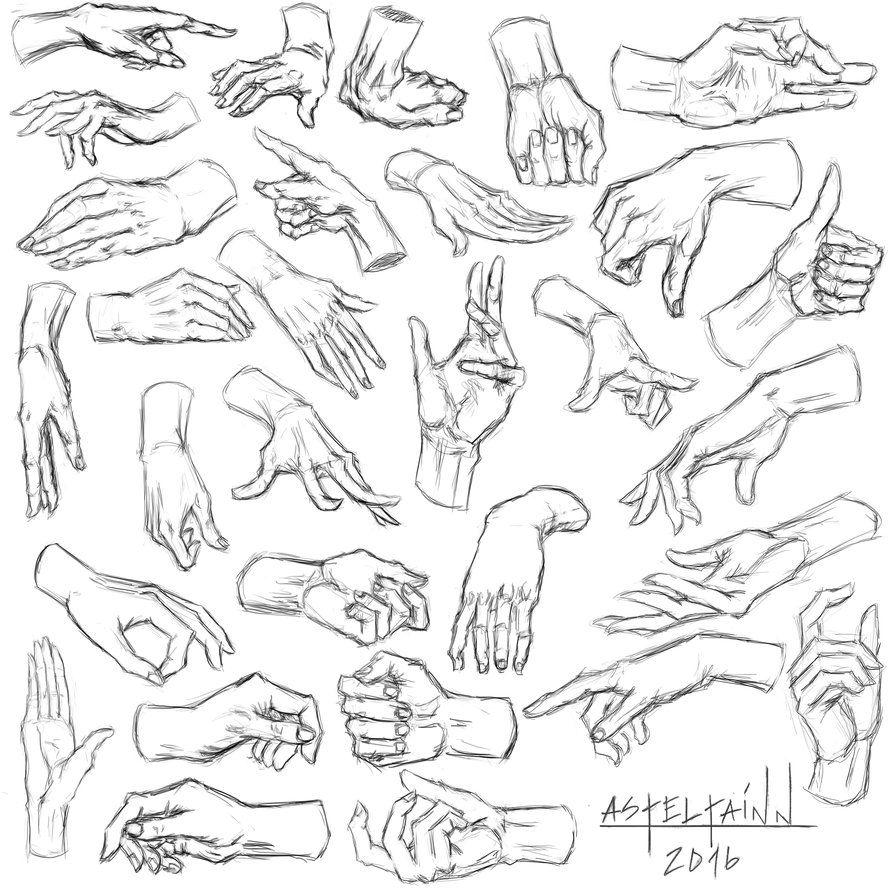 Sketch 002 - Hands, part 1 by Asteltainn on DeviantArt
