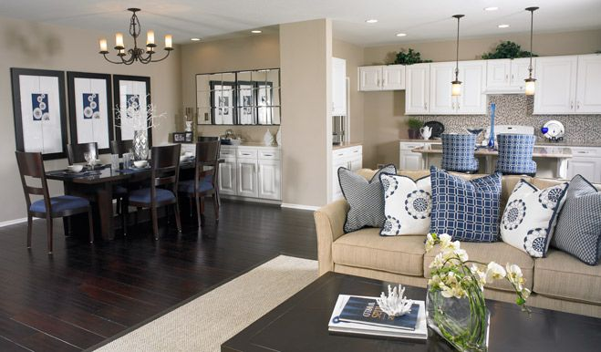 Living room dining kitchen combo denise floor plan for Kitchen family room combo floor plans