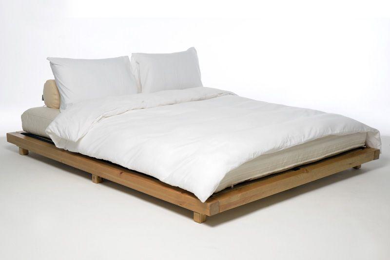 Platform Kingsize Bed Elm Finish Low
