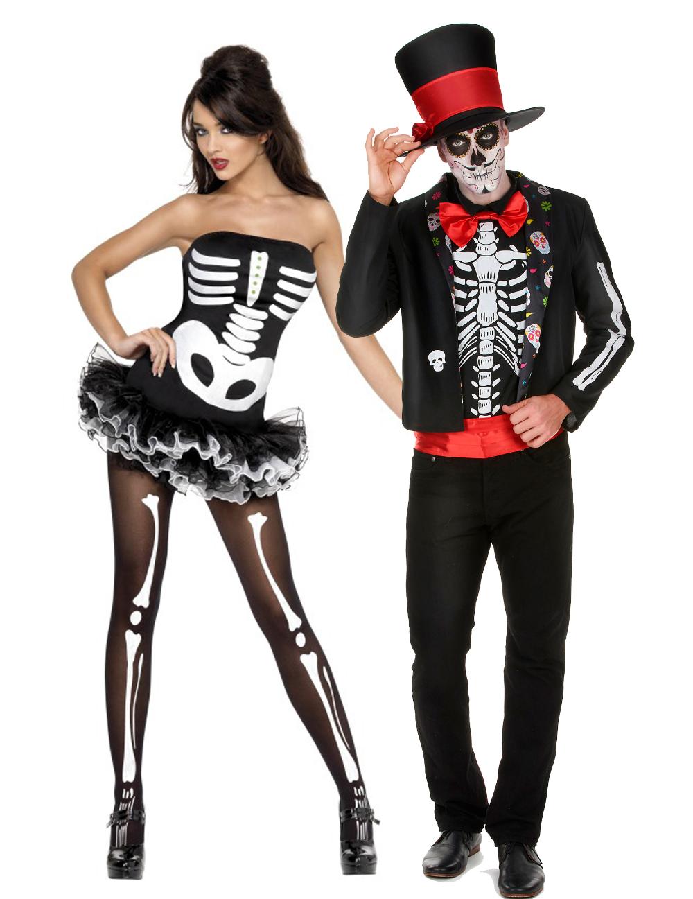 Disfraz de pareja esqueleto Halloween Disfraces parejas