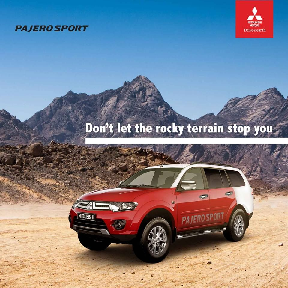 Don't let the rocky terrain stop you PajeroSport